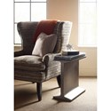 American Drew Modern Synergy Industrial I-Beam Chairside Table with Charred Wood Top
