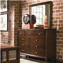 American Drew Tribecca Beveled Landscape Mirror - Shown with Dresser