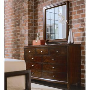 American Drew Tribecca Dressing Chest & Landscape Mirror