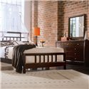 American Drew Tribecca California King Slat Bed - Shown with Dressing Chest and Landscape Mirror - Bed Shown May Not Represent Size Indicated