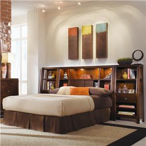 American Drew Tribecca King Bookcase Bed Group