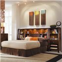 American Drew Tribecca King Bookcase Bed with Nightstands - Bed Shown May Not Represent Size Indicated
