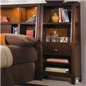 American Drew Tribecca King Bookcase Bed with Nightstands - Detail of Bookcase Nightstand