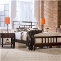 American Drew Tribecca Leg Nightstand with Pullout Tray - Shown with Queen Slat Bed