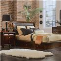 American Drew Tribecca 2 Drawer Nightstand - Shown with Platform Bed with Underbed Storage Drawers