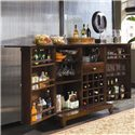 American Drew Tribecca Flip Top Bar Console - Shown with doors open