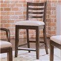 American Drew Tribecca Splat Back Bar Stool with Upholstered Seat