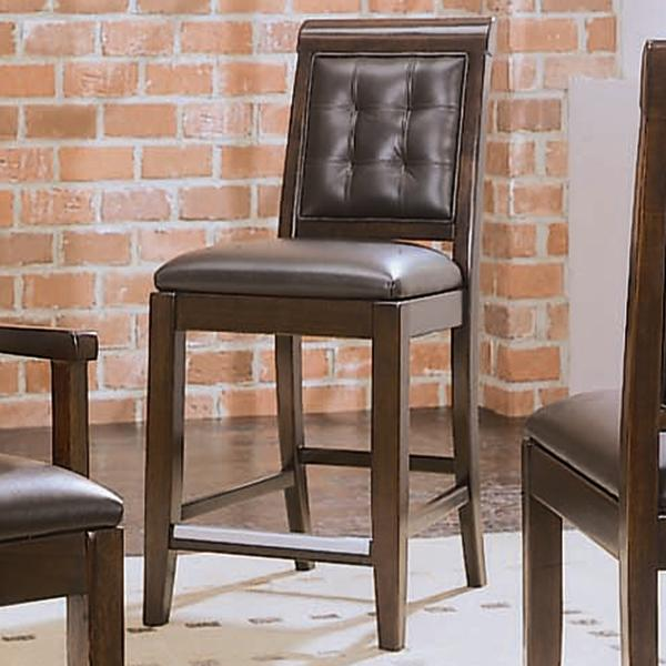 American Drew Tribecca Upholstered Leather Bar Stool With