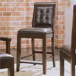 American Drew Tribecca Leather Bar Stool