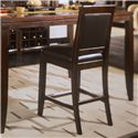 American Drew Tribecca Upholstered Leather Bar Stool with Tufted Back