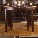 American Drew Tribecca 3-Piece Round Leg Table and Leather Side Chair  Formal Dining Set  - Detail of Round Leg Table