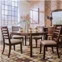 American Drew Tribecca 5-Piece Round Leg Table & Splat Side Chair Formal Dining Set