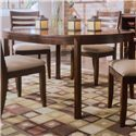 American Drew Tribecca 5-Piece Round Leg Table & Splat Side Chair Formal Dining Set - Detail of Round Leg Table
