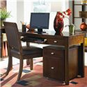 American Drew Tribecca File Caddy with Caster Wheels - Shown with Desk