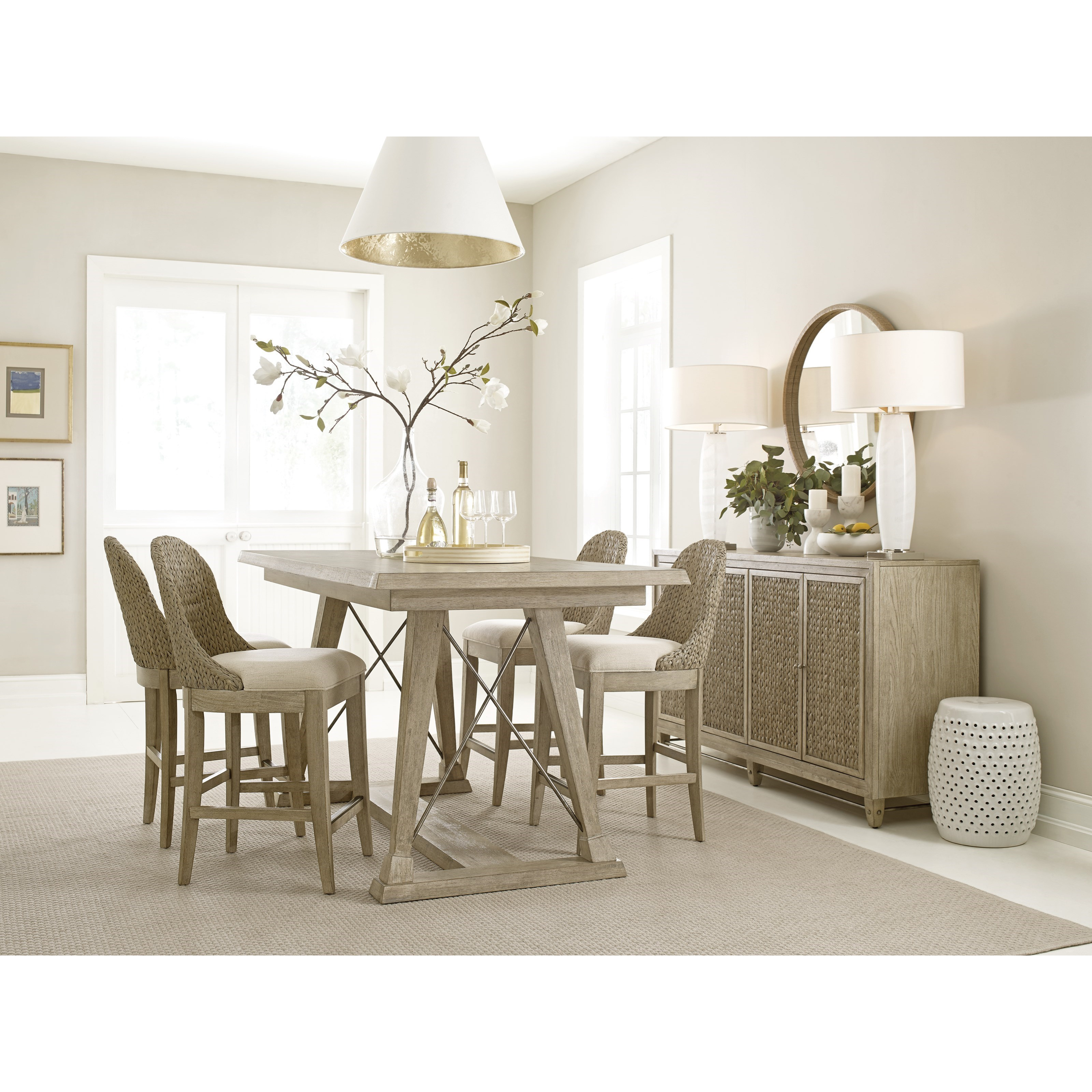 American Drew Vista 803 Dining Room Group 1 Casual Dining Room Group Esprit Decor Home Furnishings Casual Dining Room Groups