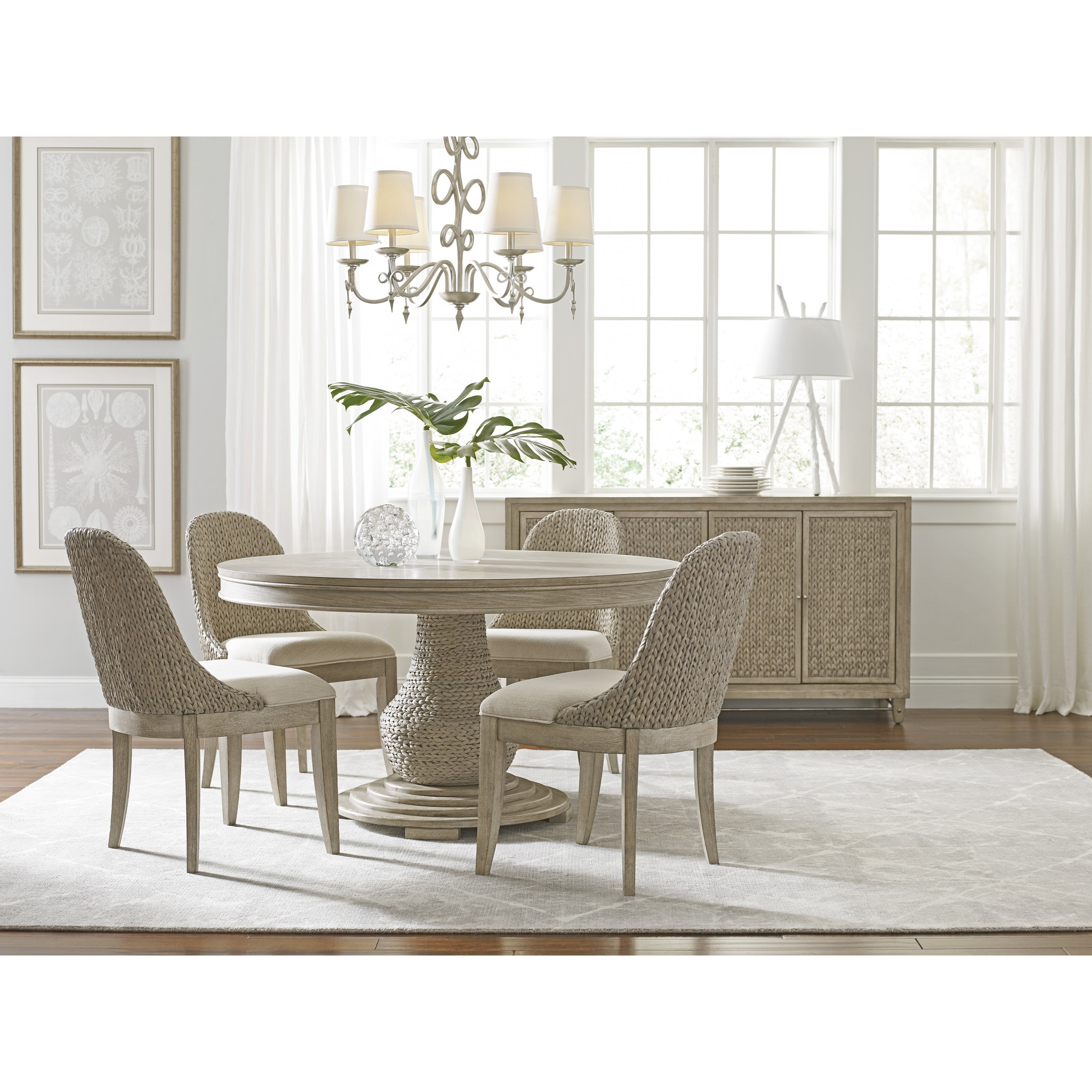 American Drew Vista Relaxed Vintage Boca Woven Dining