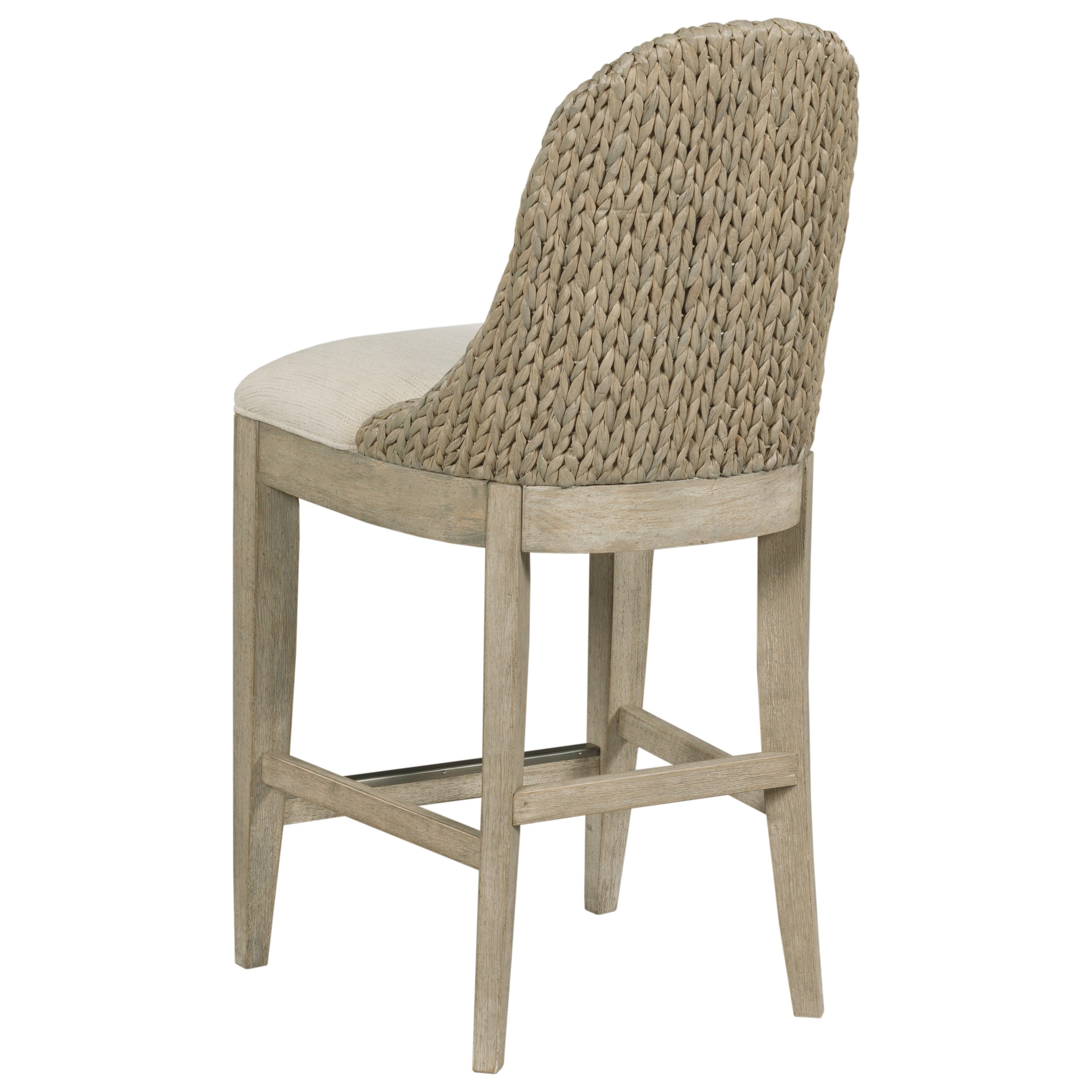 American Drew Vista Relaxed Vintage Boca Woven Back Stool