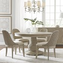 American Drew Vista 5 Piece Dining Set - Item Number: 803-701R+4x622