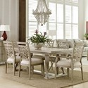 American Drew Vista 7 Piece Dining Set with Removable Leaves - Item Number: 803-744+4x636+2x637