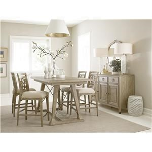 Table and Six Essex Counter Stools