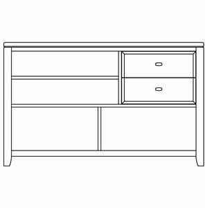 American Drew Tribecca Sofa Table With 2 Drawers And 4