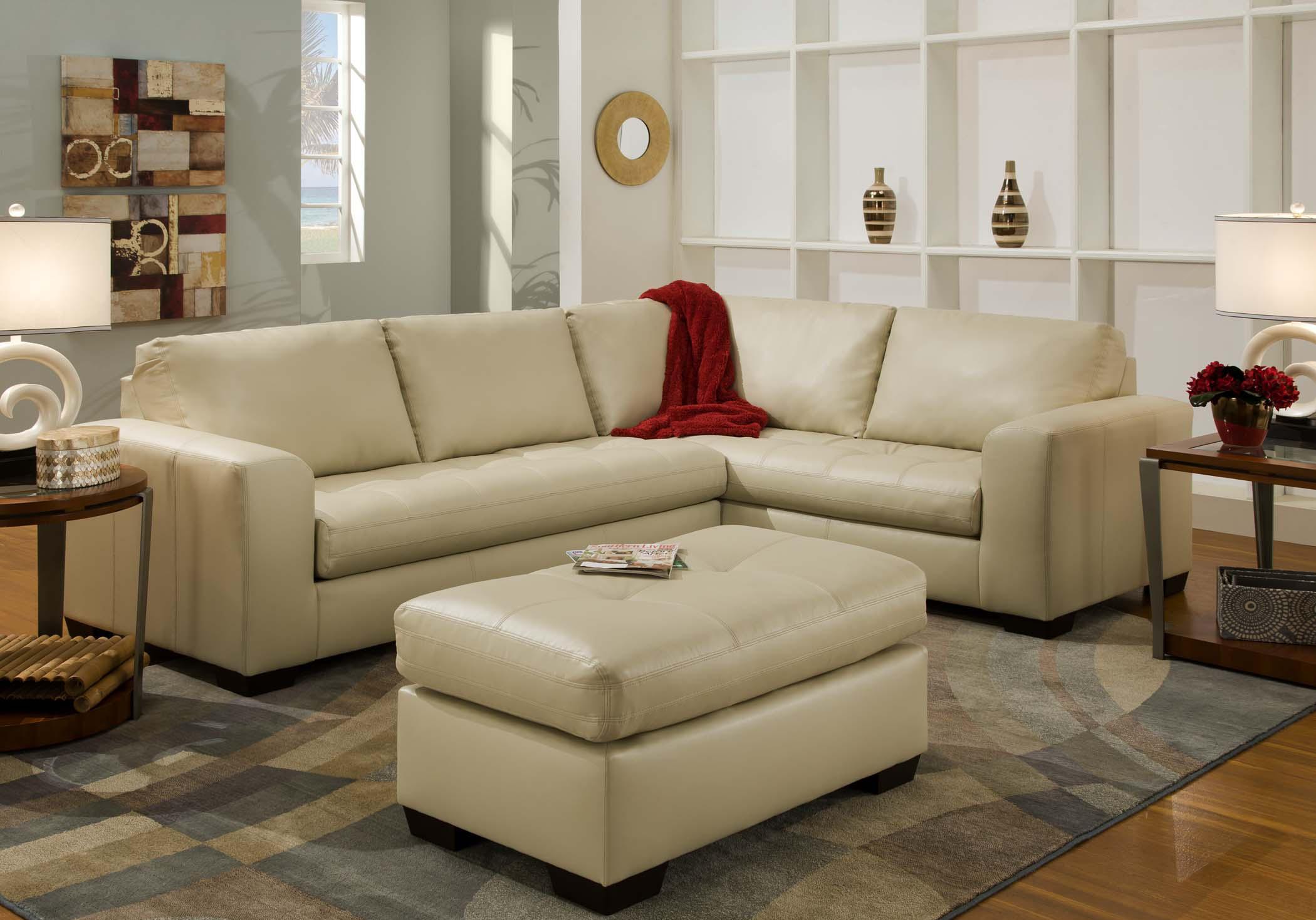American Furniture 1230 Sectional Sofa - Item Number: 1231+1234-8800