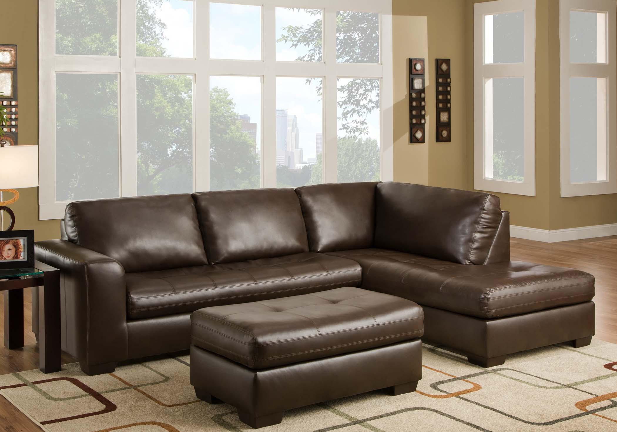 American Furniture 1230 Sectional Sofa  - Item Number: 1235+1232-8801