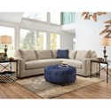 American Furniture 1280 L-Shaped Sectional - Item Number: 1281+84-4720