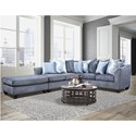 Peak Living 1360 Sectional - Item Number: 1363+1364+1365-6363