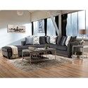 American Furniture 1370 Sectional - Item Number: 1373+1374+1375-6364