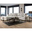 Peak Living 1380 Sectional - Item Number: 1383+1384+1385-6365