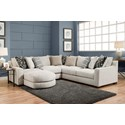 American Furniture 1400 Sectional Sofa - Item Number: 1410+04+40+16-2005