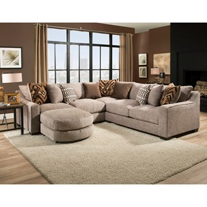 sectional sofa with four seats and chaise 1400 by american