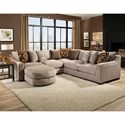 American Furniture 1400 Sectional Sofa - Item Number: 1410+04+40+16-2007