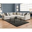 American Furniture 1400 Sectional Sofa - Item Number: 1410+04+40-2005