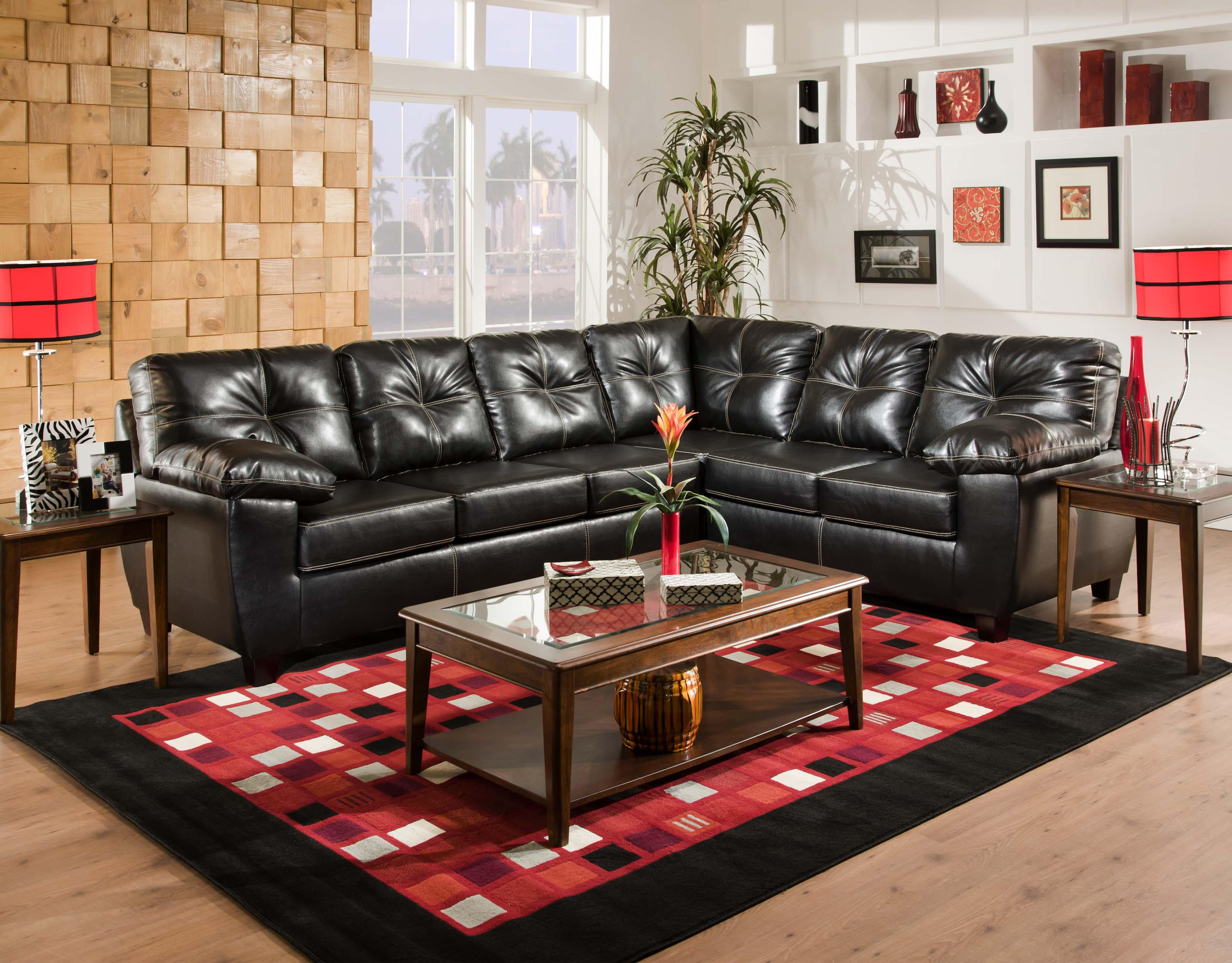American Furniture 1470  Sectional Sofa - Item Number: 1471+1472 4111