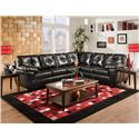 American Furniture 1470  Sectional Sofa - Item Number: 1471+1472 4111
