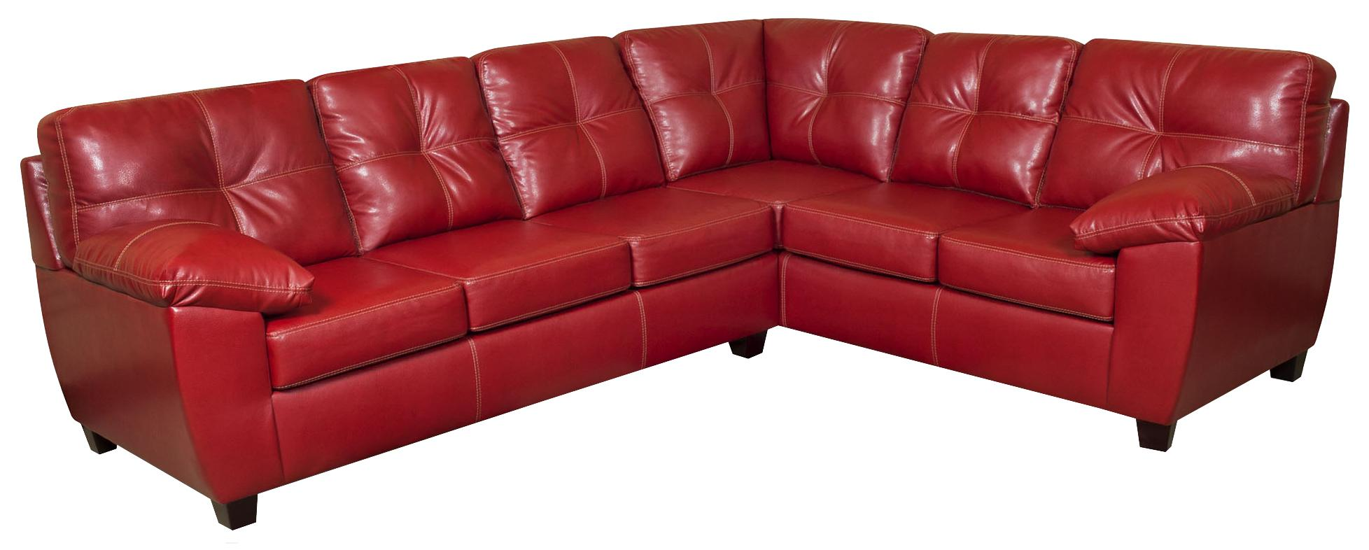 American Furniture 1470  Sectional Sofa - Item Number: 1471+1472 TC