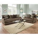American Furniture 1600 Living Room Group - Item Number: 1600  Living Room Group 1-Chocolate
