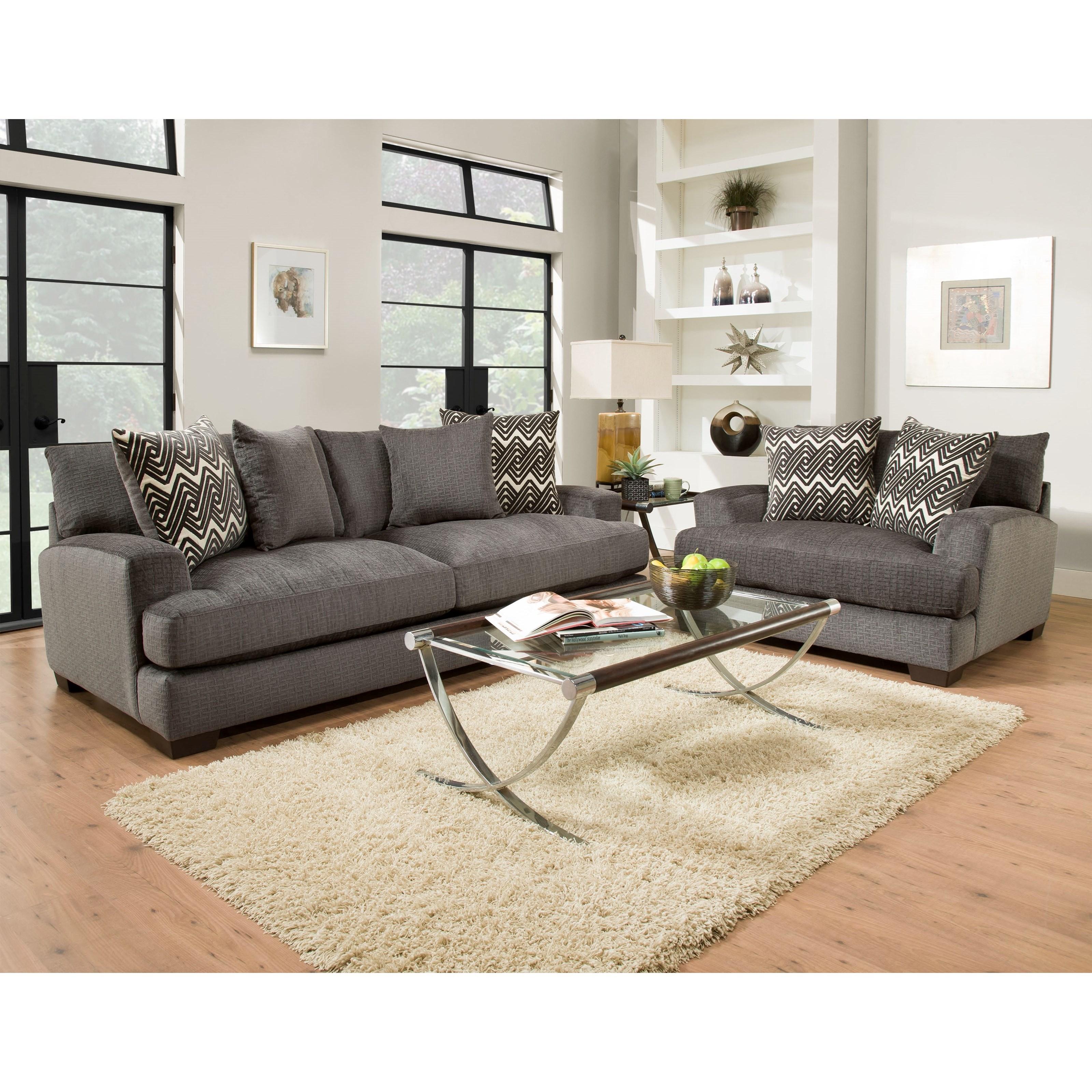 American Furniture 1600 Living Room Group - Item Number: 1600 Living Room Group 1-Smoke