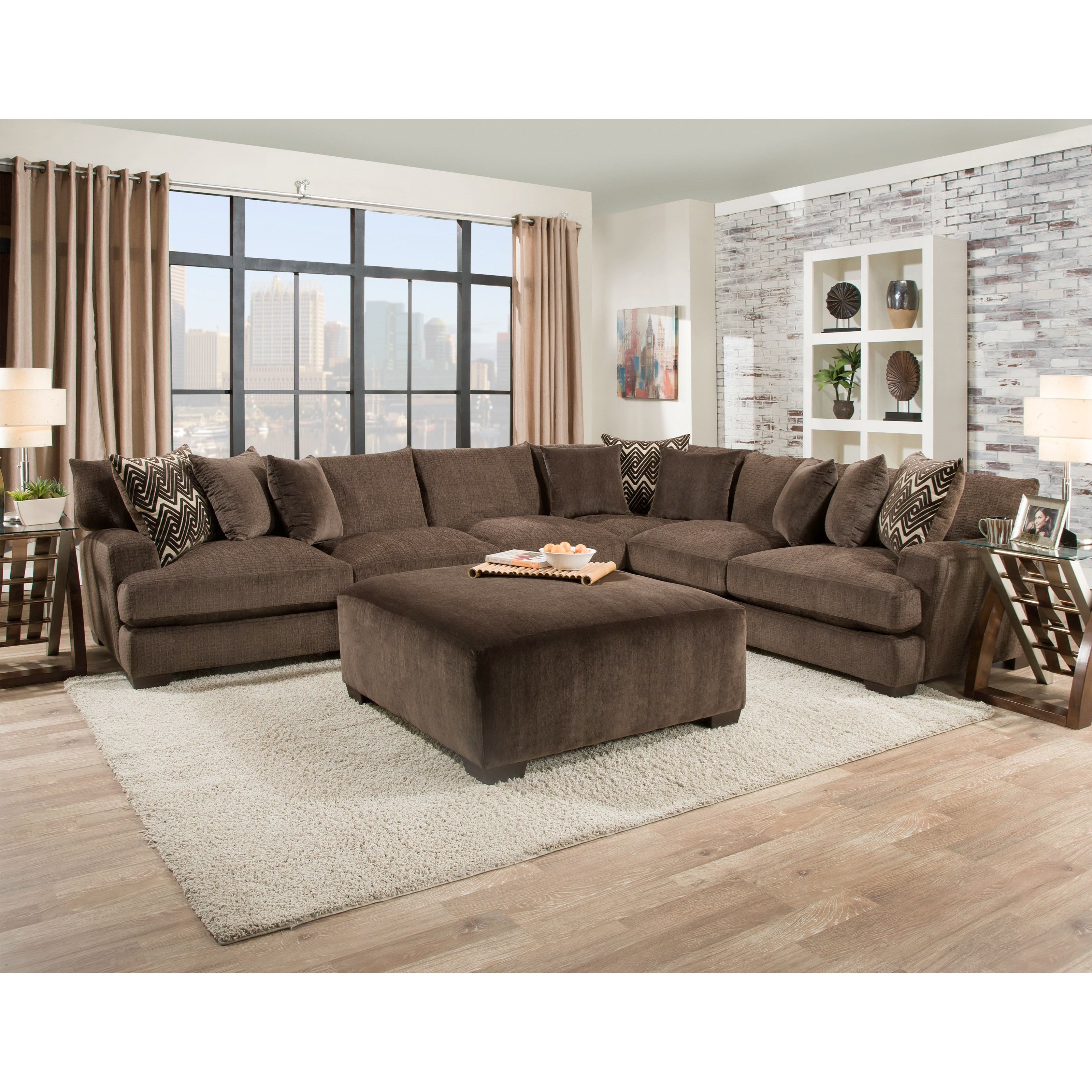 American Furniture 1600 Living Room Group - Item Number: 1600 Living Room Group 2-Chocolate