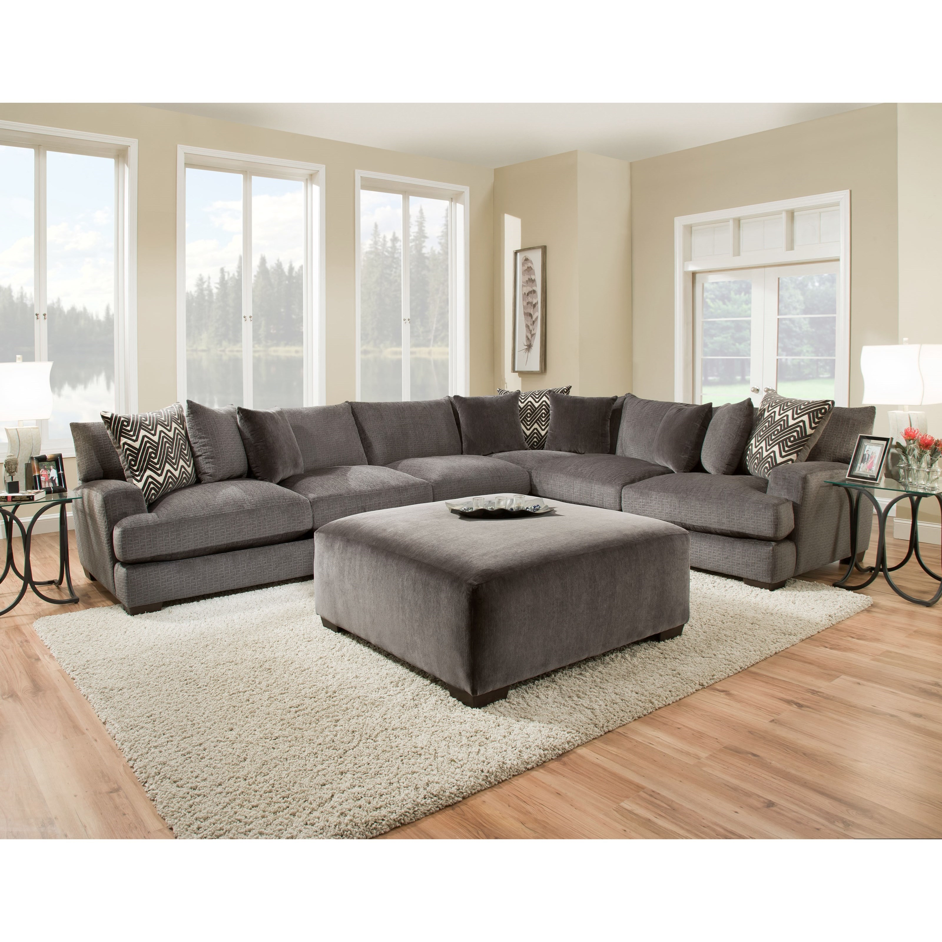 American Furniture 1600 Living Room Group - Item Number: 1600 Living Room Group 2-Smoke