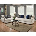American Furniture 1600 Contemporary Sofa with Gel-Infused Cushions