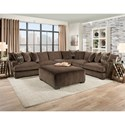 American Furniture 1600 Square Ottoman with Gel-Infused Cushion