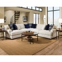 Peak Living 1600 4 Seat Sectional - Item Number: 1610+1604+1640-5440