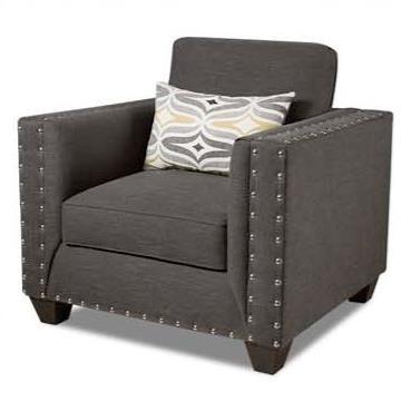 American Furniture Paradigm Smoke Contemporary Chair - Item Number: 1701-2211