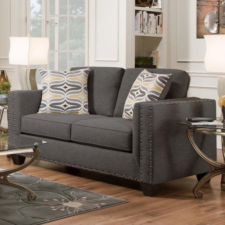 American Furniture Paradigm Smoke Contemporary Loveseat - Item Number: 1702-2211