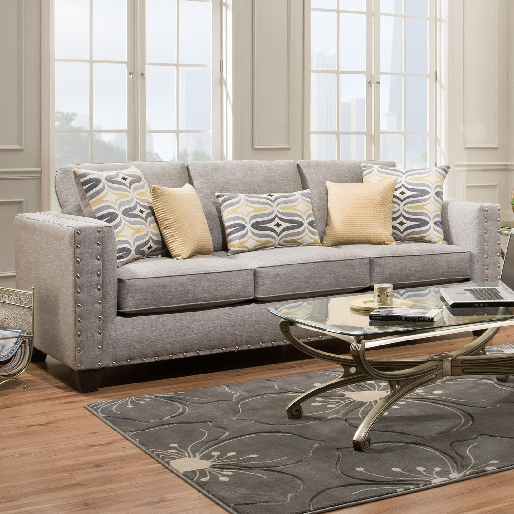 American Furniture 1700 Contemporary Sofa Miskelly Furniture Sofas