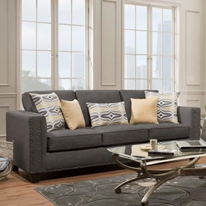 American Furniture Paradigm Smoke Contemporary Sofa