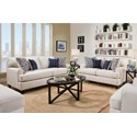 American Furniture 1950 Casual Styled Sofa
